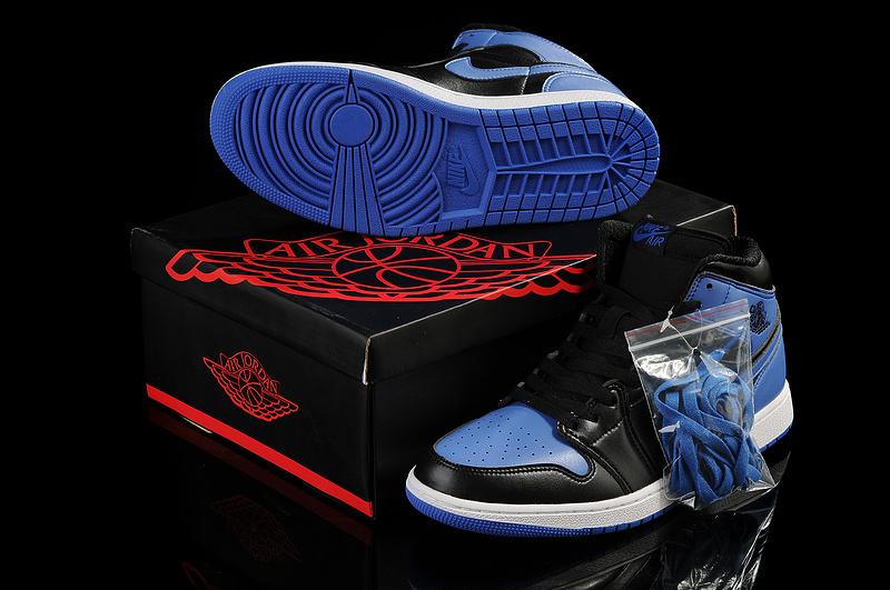 New Jordan I Retro Black Blue Shoes