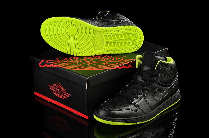 New Jordan I Retro Black Green Shoes