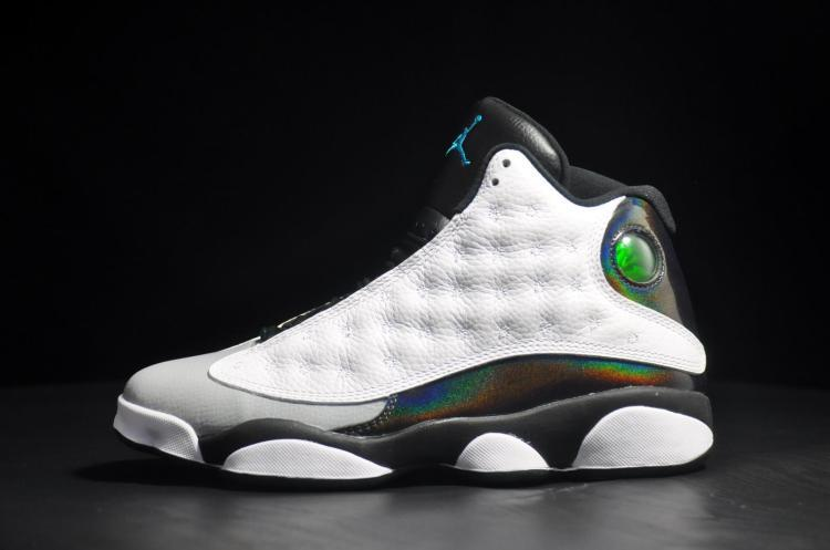 Cheap Real 2015 Air Jordan 13 Earl White Black Grey