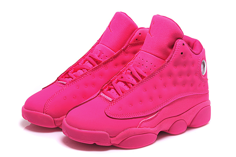 New Air Jordan 13 GS All Pink Shoes