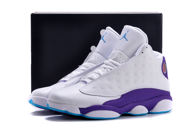 Cheap Real 2015 Air Jordan 13 White Purple