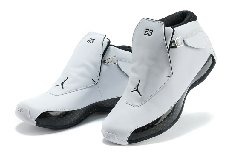 b5d558edf7e9f5 New Air Jordan 18 White Black Shoes