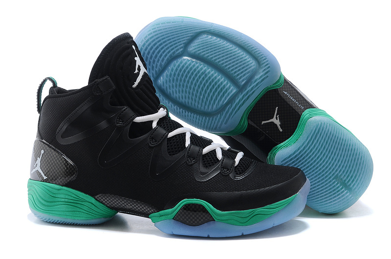 2015 Cheap Real Air Jordan 28 Black Green Shoes