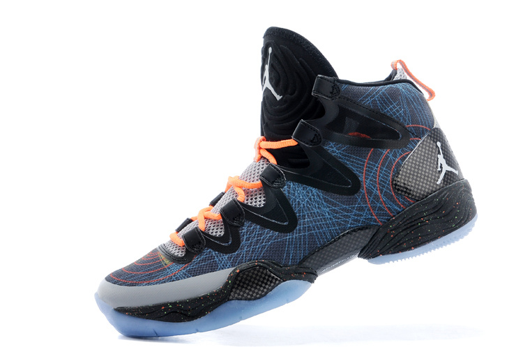 2015 Cheap Real Air Jordan 28 Blue Black Orange Shoes