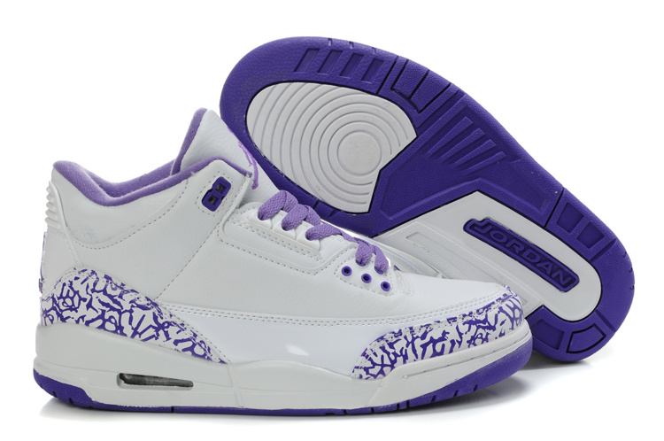 Authentic And Aporitve Women's Air Jordan 3 White Blue