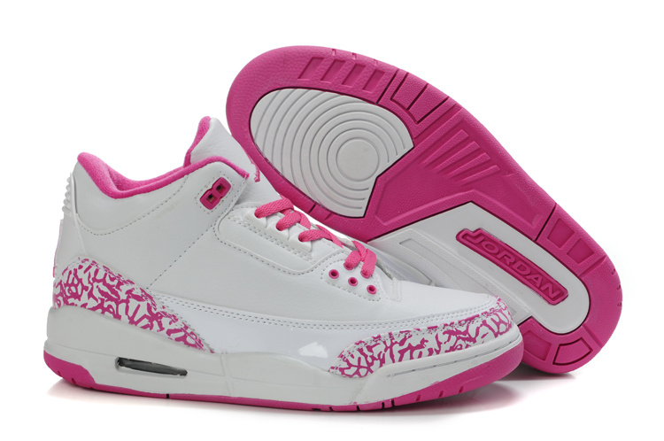 Authentic And Aporitve Women's Air Jordan 3 White Pink