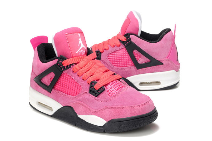 Stylish Women's Air Jordan 4 Pink White