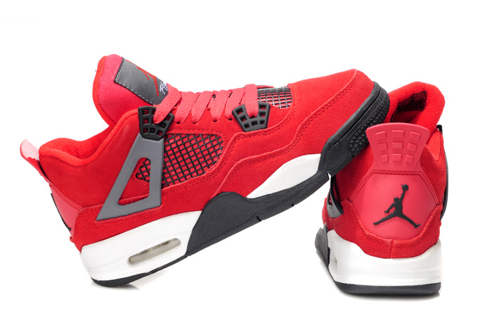 Stylish Women's Air Jordan 4 Red White