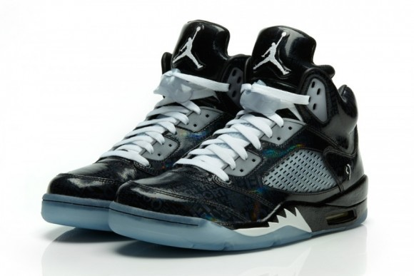 New Air Jordan 5 Midnight Dark Blue White Shoes