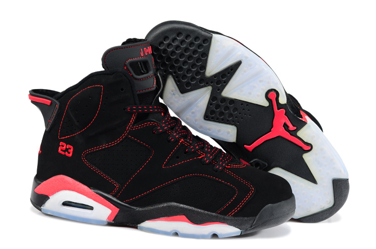 New Retro Jordan 6 Black Red Shoes