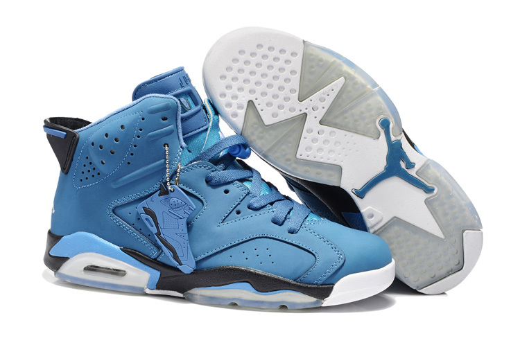 2013 Jordan 6 Retro Blue White Shoes