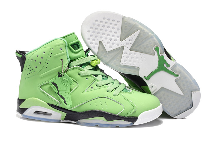 2013 Jordan 6 Retro Green White Shoes
