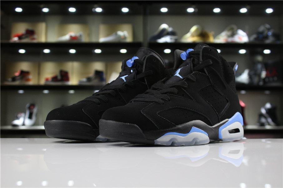 Cheap New Air Jordan 6 UNC Black University Blue