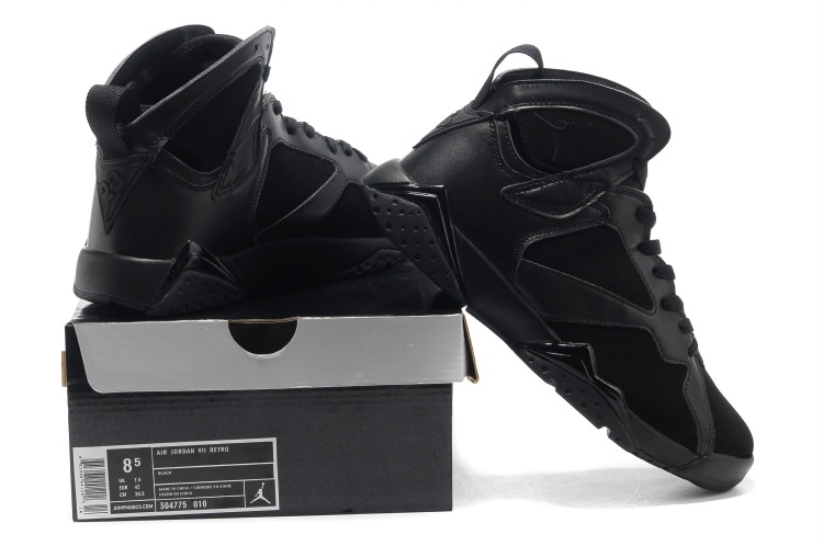 2013 Cool Jordan 7 Retro All Black Shoes