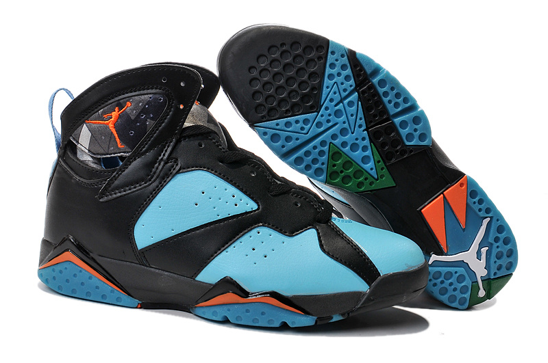 Cheap Real 2015 Air Jordan 7 Black Green Orange