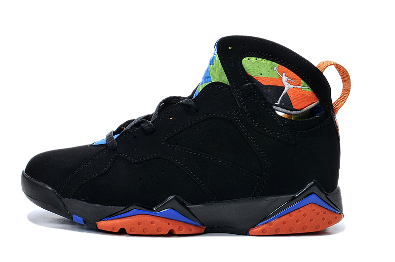 Cheap Real 2015 Air Jordan 7 Black Orange Blue