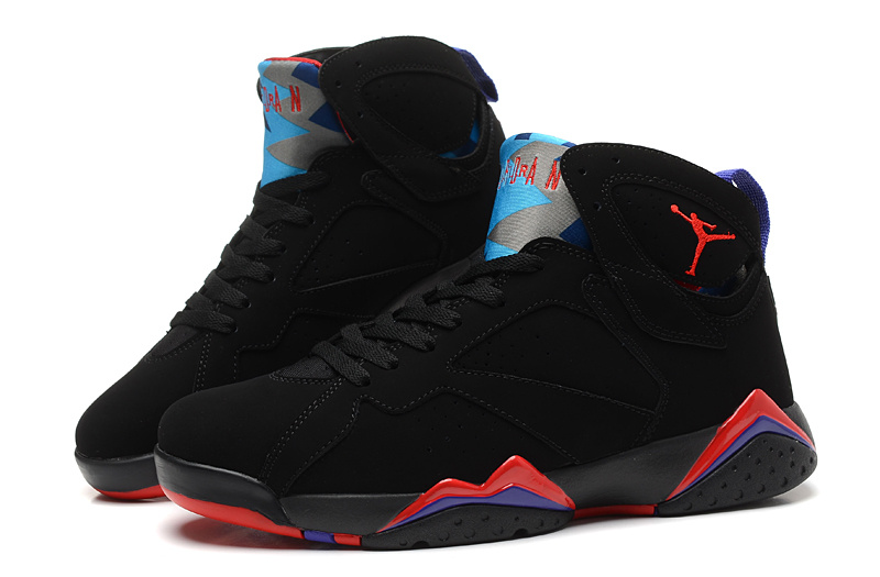 Cheap Real 2015 Air Jordan 7 Black Red Blue