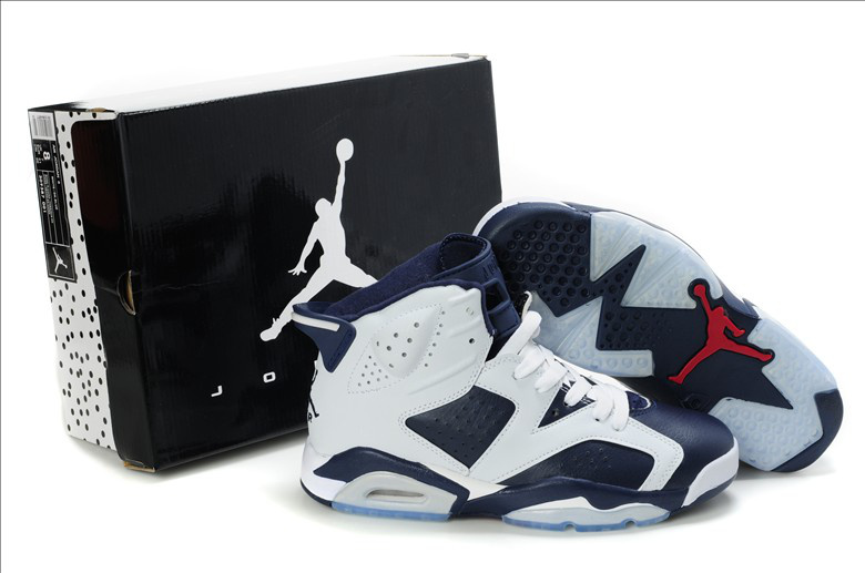 Air Jordan Retro VI White Blue For Sale