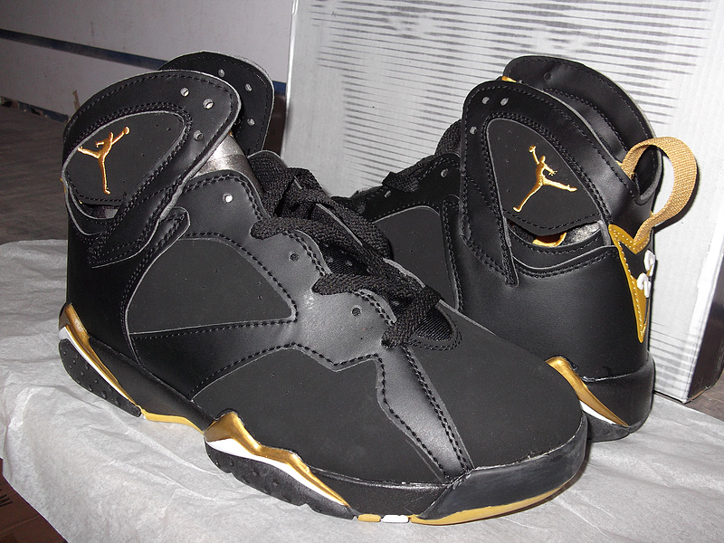 Latest Air Jordan Retro VII Black Gold