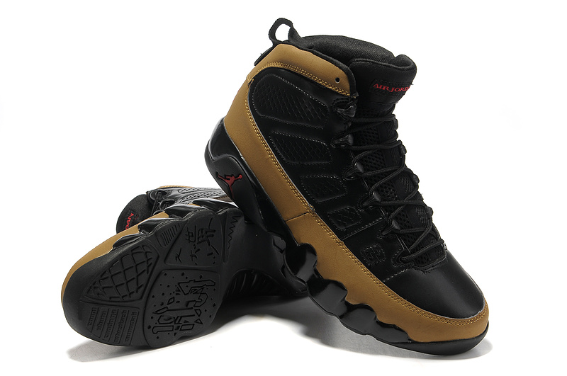 New Air Jordan Retro IX Black Brown