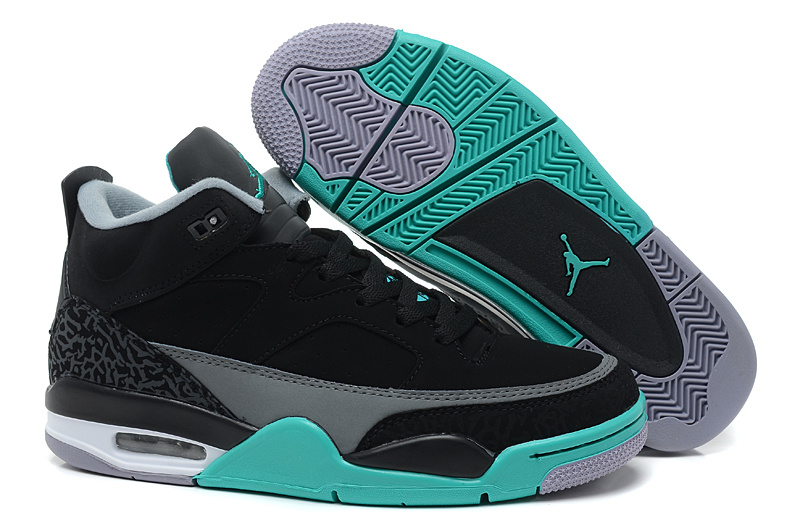 New Air Jordan Spizike Black Grey Green Shoes