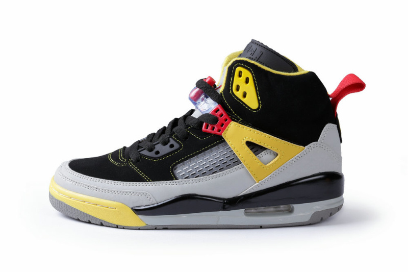 2013 Jordan Spizike Black Grey Yellow Shoes