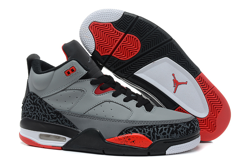 New Air Jordan Spizike Grey Black Red Shoes