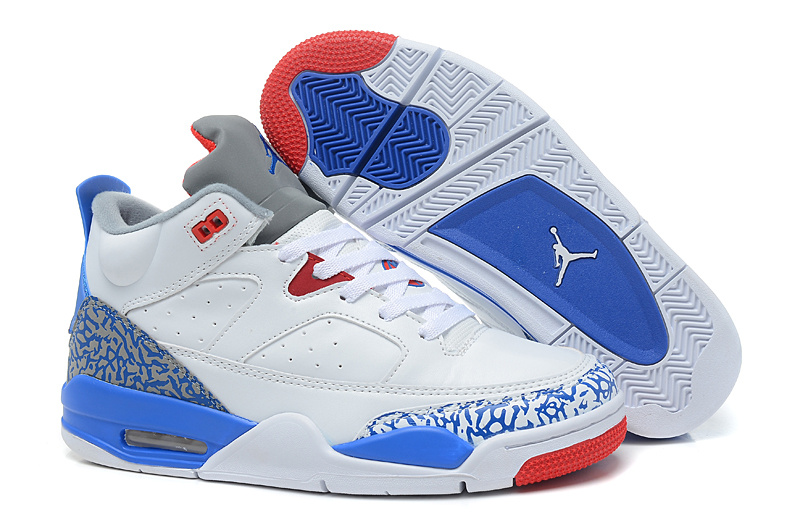 New Air Jordan Spizike White Blue Red Shoes