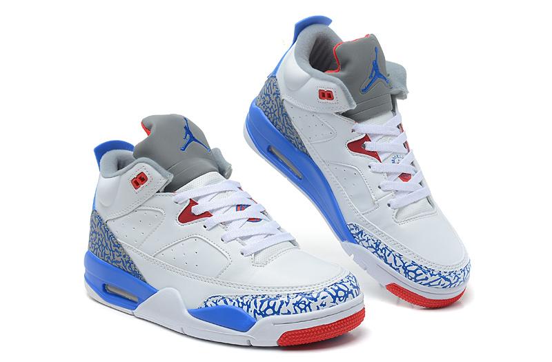 2013 Jordan Spizike White Blue Red Shoes