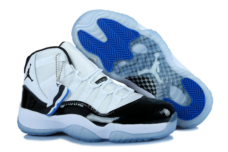 New Jordan 11 Concord White Black For Women