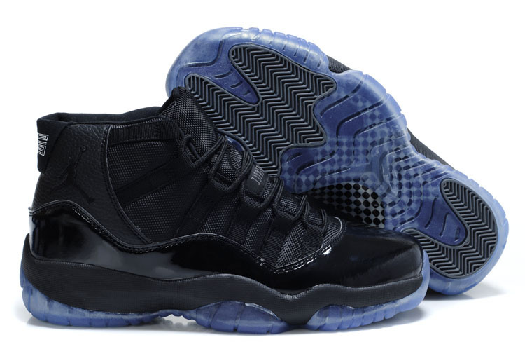 New Jordan 11 Retro Black Blue Shoes