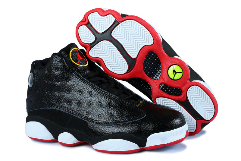 New Jordan 13 Black Red White With 3D Eye And Recoil Air Cushion