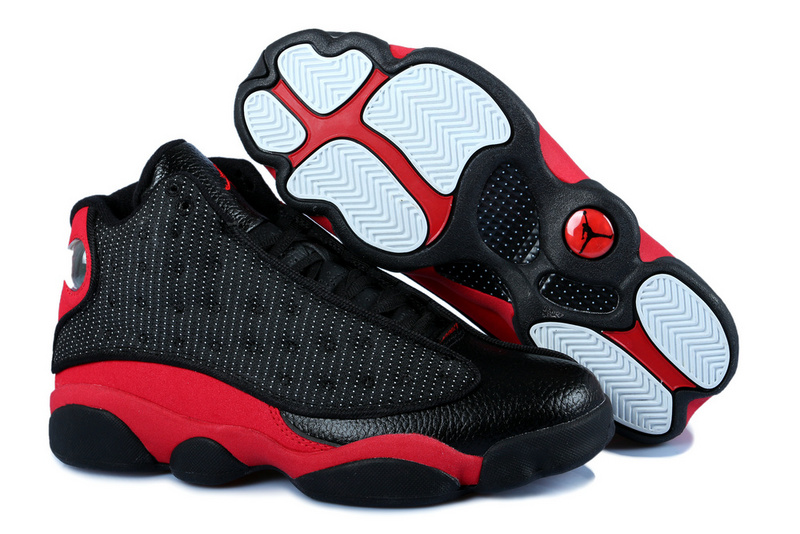 New Jordan 13 Black Red With 3D Eye And Cecoil Air Cushion
