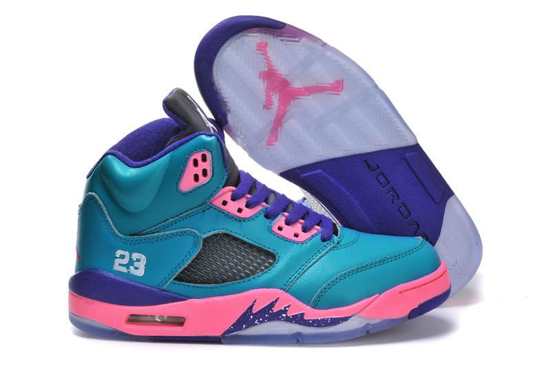 Black Purple Blue And Pink Jordans Retro  1ce7749906