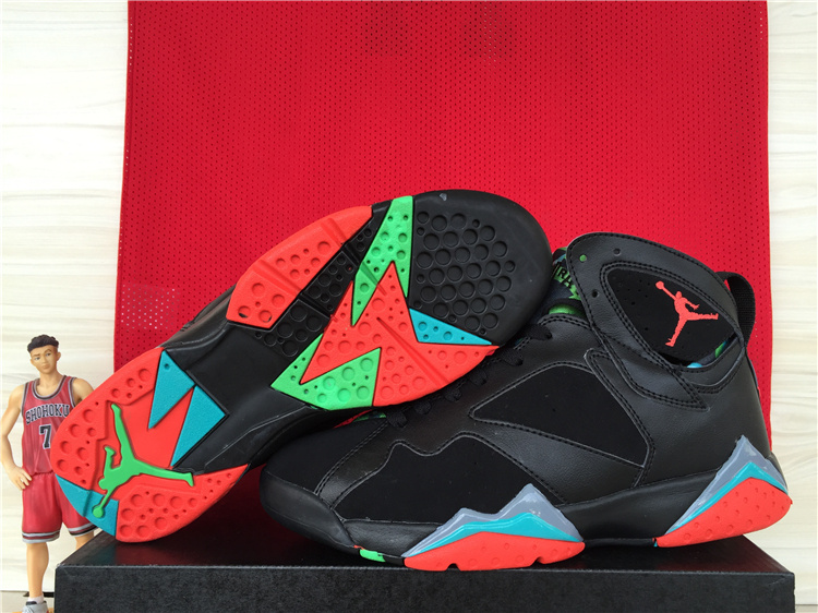 7ac9c9a62b1 2015 Cheap Real Air Jordan 7 Retro Black Red Blue