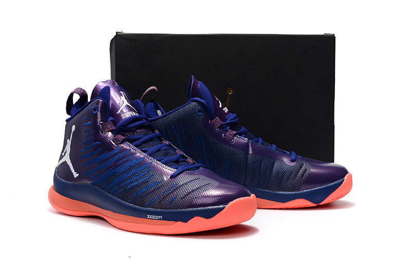 New Jordan Super Fly 5 X Purple Orange Shoes