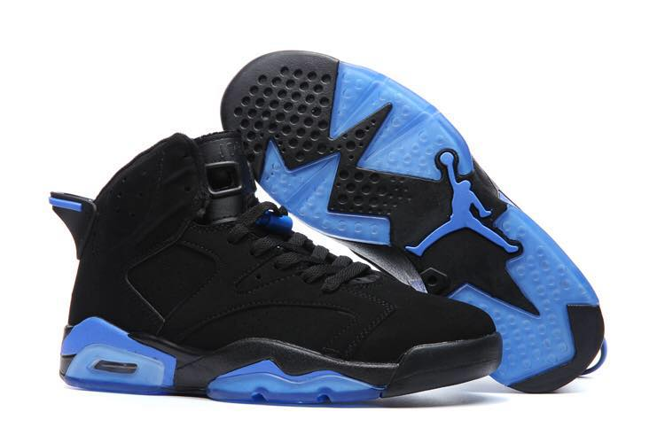 Cheap Air Jordans 6 Black Blue Shoes