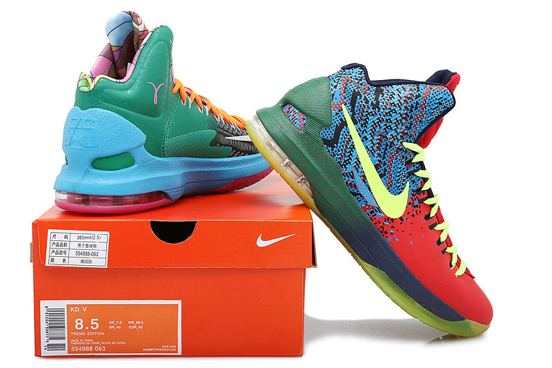 new product 44aab 2ae66 Nike Kevin Durant 5 Mandarin Duck Basketball Shoes