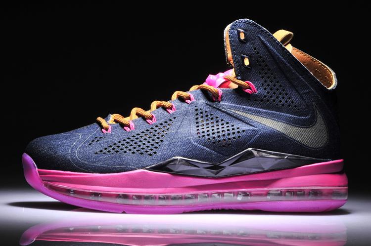 nike lebron 10 black pink shoes 80 00