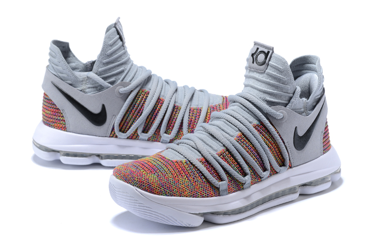 Nike Kevin Durant 10 Black Cool Grey Colorful Shoes