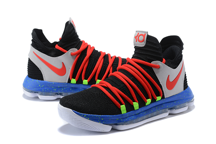 Nike Kevin Durant 10 Black Red Grey SHoes