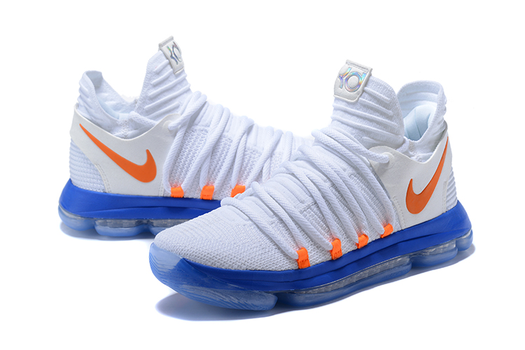 Nike Kevin Durant 10 White Blue Orange SHoes