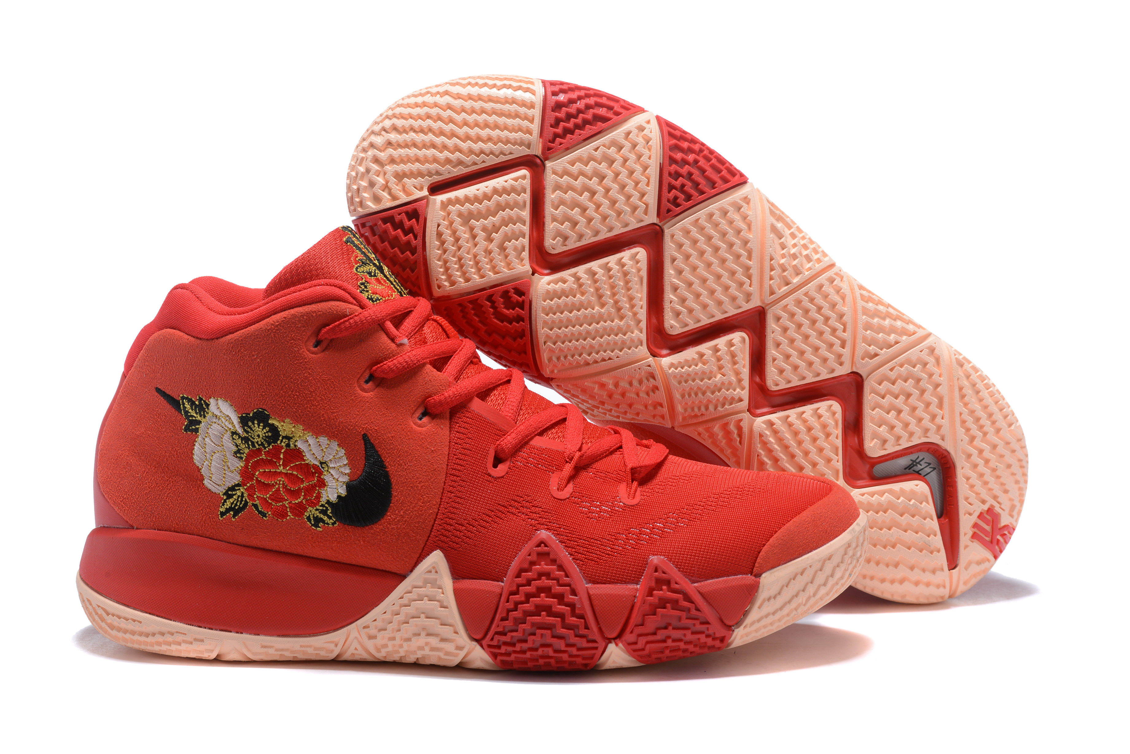Nike Kyrie Irving 4 Chinese Red FLowers Shoes