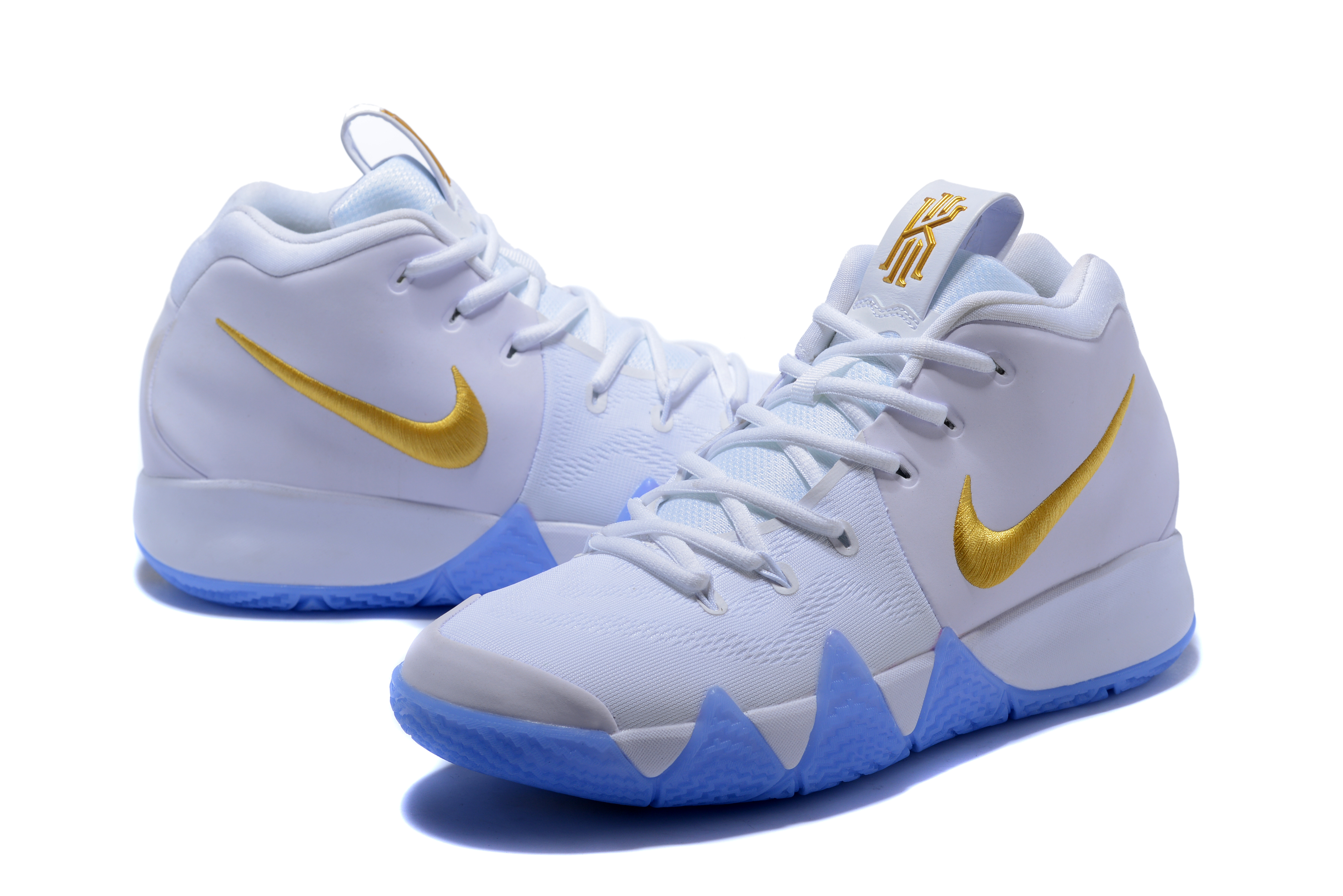 Nike Kyrie Irving 4 WHite Gloden Shoes