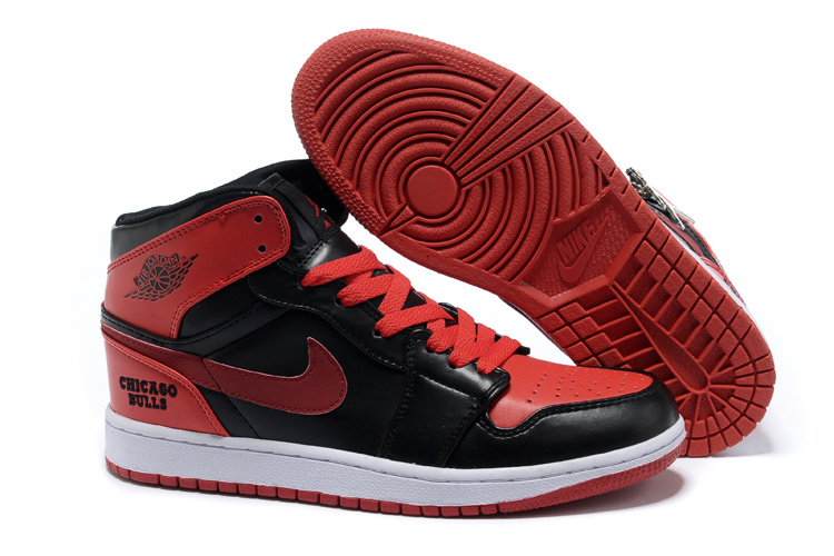 2013 New Original Jordan 1 Black Red Shoes