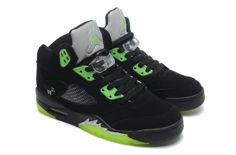 2015 Cheap Real Air Jordan 5 Retro Black Green