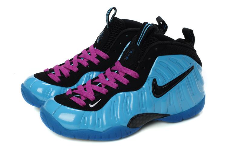 Nike Air Foamposite Blue Black Pink For Women