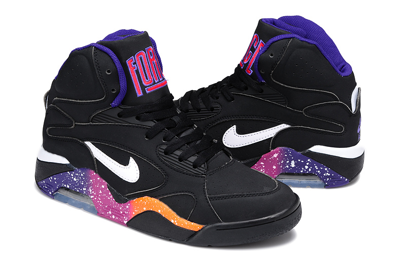 Nike Air Force 180 Mid Black Purple Shoes
