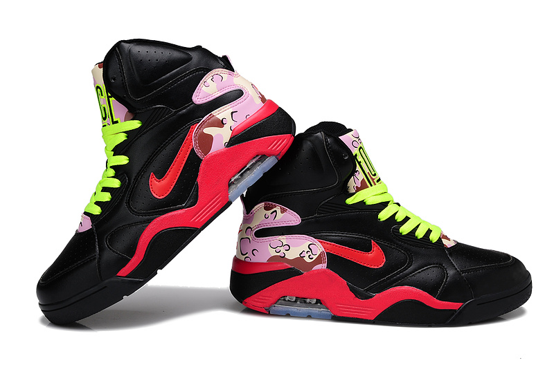 Nike Air Force 180 Mid Black Red Yellow Shoes