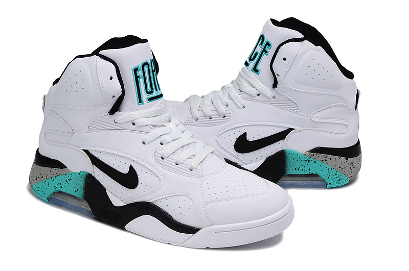 Nike Air Force 180 Mid White Black Blue Shoes